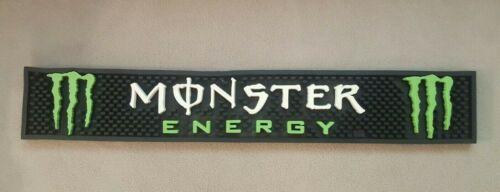 "Monster Energy Drink Rubber Bar Spill Mat 21"" x 3-1/4"" - Ships FREE!"