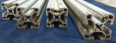 8020 T-slot Aluminum Extrusion 1515-ul Assorted Lot Of 4 25-28-34