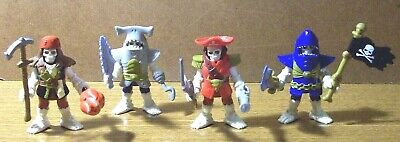FISHER PRICE IMAGINEXT 4 DIFFERENT SKELETON PIRATE KNIGHTS with WEAPONS
