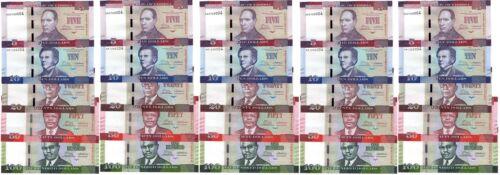 Liberia - 5 pcs x set 5 banknotes 5 10 20 50 100 Dollars 2016 UNC Lemberg-Zp