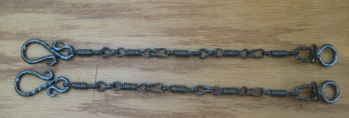 Rein Chains Prod. #BBR-06 --12 inches long, Black, Blue, Patina, Stainless Steel