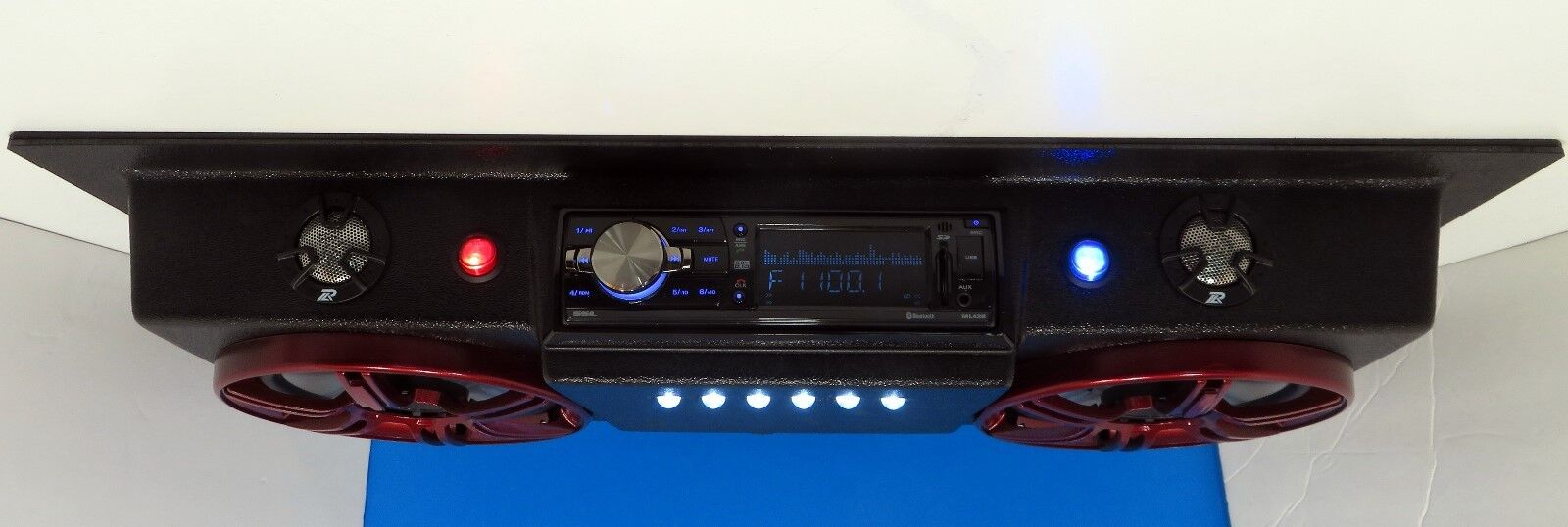 Golf Cart Radio Polaris EZGO Club Car Boat UTV Roof Mount Console Stereo Radio