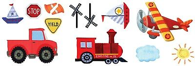 Airplane Birthday Party Supplies (Airplane Train Truck Boat Assorted Cutouts Birthday Party Decor Supply On the)