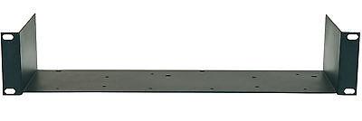 """2 HE 19"""" Rackablage kurz MP-2 Ablage Trägereinschub Fachboden Stahl schwarz NEU"""