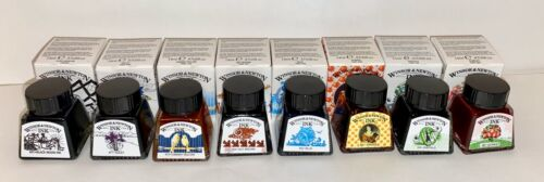 Winsor & Newton Drawing Ink Water Soluble Dyes Set 8 Henry Collection Pre-owned