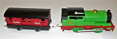 Trackmaster HIT Percy With Sodor Mail Truck 2006 Motorized Train Thomas & Friend