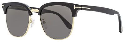 Tom Ford Rectangular Sunglasses TF544K 01D Black/Gold Polarized 56mm (Tom Ford Sunglass)
