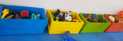 4x Wooden Crates -toys, storage ect-
