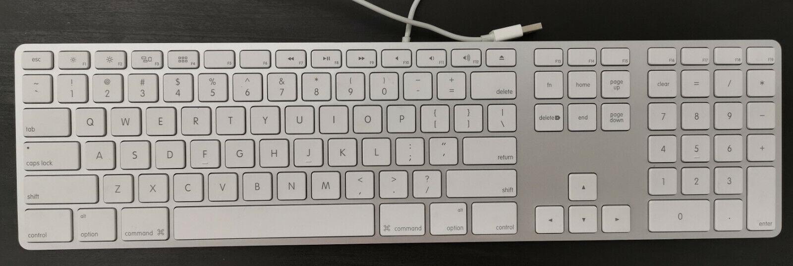 Clavier apple filaire qwerty a1243 avec pavé numérique (us)