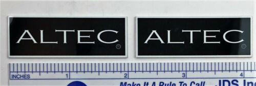 Altec Speaker Grill Badge Logo Emblem 846 886 PAIR Custom Made Aluminum