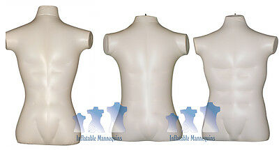 Inflatable Mannequin - Male Torso Package Ivory