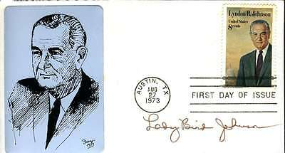 LADY BIRD JOHNSON SIGNED JSA CERTIFIED FDC AUTHENTICATED AUTOGRAPH