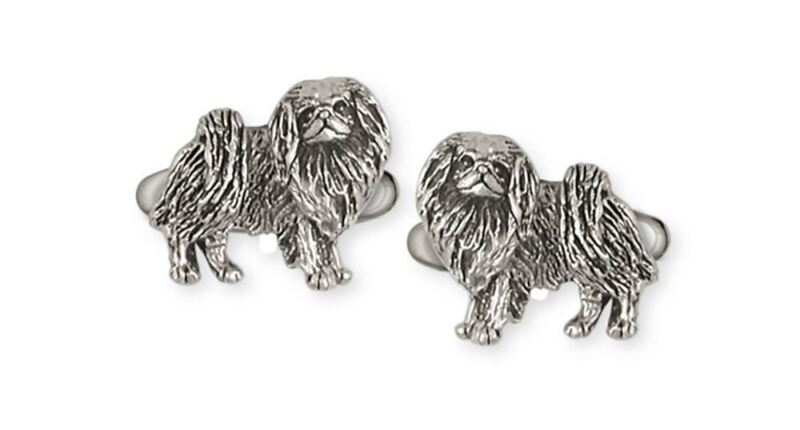 Japanese Chin Cufflinks Jewelry Sterling Silver Handmade Dog Cufflinks JC8-CL