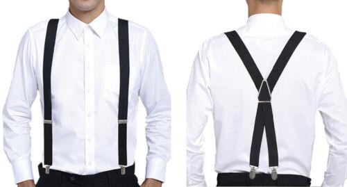 Suspenders Braces Elastic Adjustable Mens New Duty Men