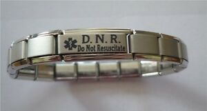 dnr bracelet italian charms do not resuscitate d n r dnr alert 5008