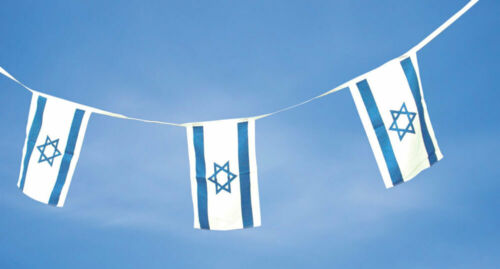 Israel String Flag Bunting - 100% Premium Polyester - Banner