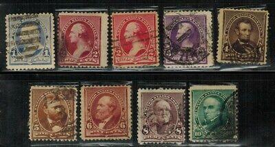 United States #219-226 1890-93 Used
