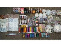 Nail Art Bundle- glitter, regular/magnetic nail varnish+ a lot more