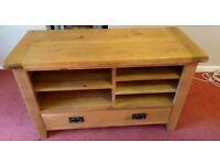 Solid oak TV unit (excellent condition)