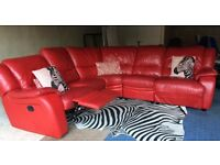 CAN DELIVER- WOW! Real Leather Corner V-SHAPE Sofa