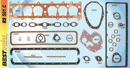 Compleetpakkingset Chevrolet 6 1929-31 - RS501C Best Gasket