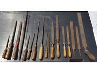 18 Vintage Engineering / Tool Maker Hand files Various