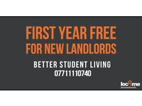 Landlords Wanted! MANAGEMENT FREE FOR A YEAR!