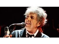 Bob Dylan Motorpoint Arena Cardiff. Wednesday 3rd May 2017. £90. Tiered seating. Block 6