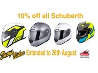 Offer extended 10% Off all Schuberth Helmets in Stock at Hein Gericke