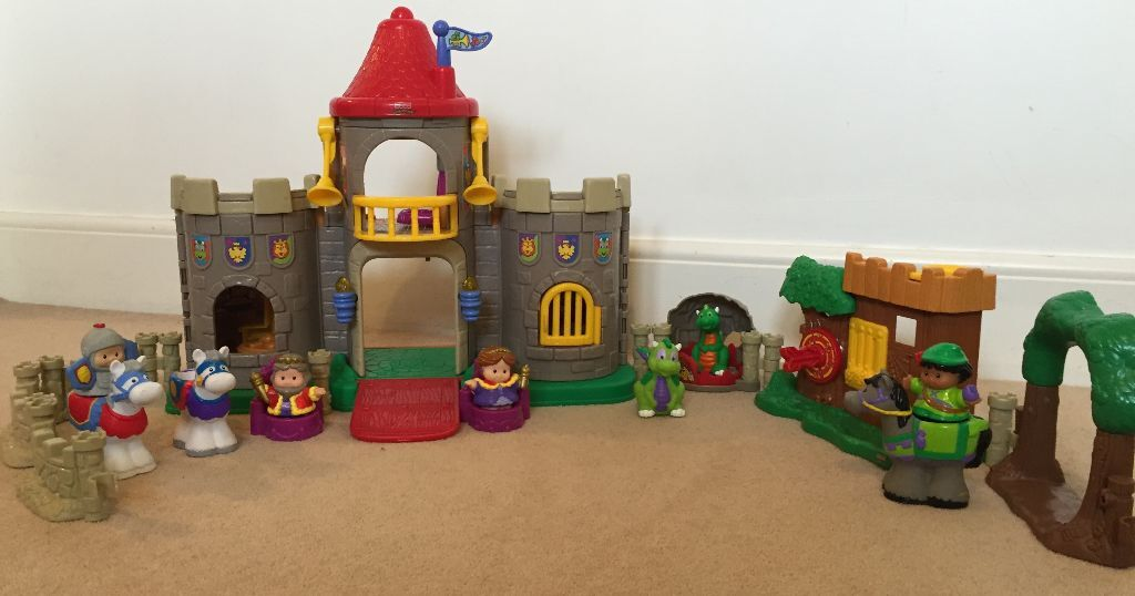 Fisher Price Little People Castle with working lights & sound, Robin Hood house, dragon ...