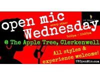 UK Open Mic | 7pm | WEDNESDAY @ The Apple Tree, Clerkenwell (Farringdon/Holborn/King's Cross)