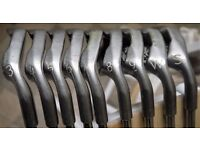 Full Set of Ping Zing Golf Clubs 3 Iron to Sand Wedge, Green Spot, Short shafts