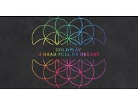 X4 COLDPLAY TICKETS WEDS 12/07/17 CARDIFF £250 ***SOLD OUT***