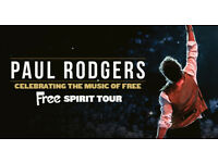 Paul Rodgers SECC Armadillo Glasgow Stalls Tickets