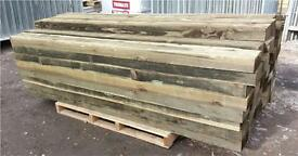"🌲Mini railway sleepers 3""X 6""X 7ft fencing posts"