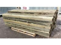 "🌲Mini railway sleepers 3""X 6""X 7ft fencing posts"