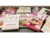 Collection of cookery books - healthy eating