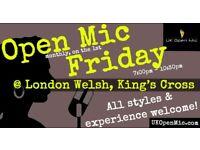 UK Open Mic | 7pm | FRIDAY @ London Welsh Centre, King's Cross (Farringdon, Clerkenwell, Finsbury
