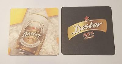 DESTER Premium Beer Mat Coaster SOUTH KOREA Hite 2017 Asia Collect 100% Malt