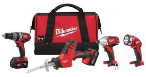 milwaukee 2695-24 ensemble de 4 outils M18 neufffff
