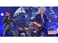 Queen and Adam Lambert Tickets x2 GOOD SEATS Blk C4 Wembley Arena Sun 1st July £250