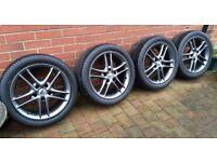 """17"""" 5x120 Alessio Jaguar BMW alloy wheels"""
