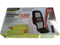 HOMEDICS Shiatsu Massager Extended Track With Heat Deep Kneading Shiatsu & Rolling Massage £85! ONO