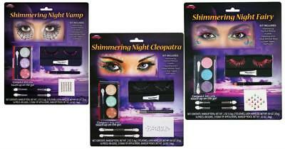Shimmering Night Makeup Kit Assortment, Cleopatra, Fairy, Vampire Halloween Make