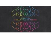 2x Coldplay tickets in Cardiff