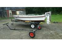11ft Dory boat,trailer etc