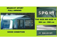 Caravan Awning Bradcot Size 990 Size 14 PENDING COLLECTION