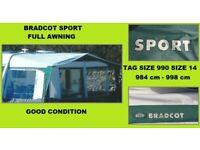 Caravan Awning Bradcot Size 990 Size 14
