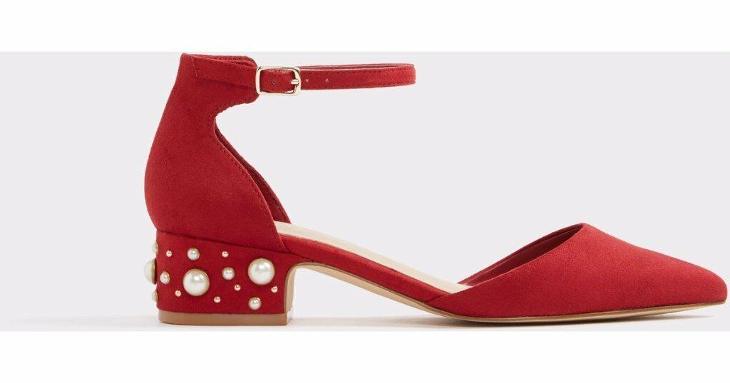 9f541e4ca030 ALDO low wiliwiel heels in red