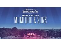4 x Tickets - Mumford & Sons, Alabama Shakes, Wolf Alice - British SummerTime in Hyde Park